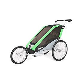 Фото 2 к товару Велоколяска детская Thule Chariot Chetah1 + набор колес, зеленая