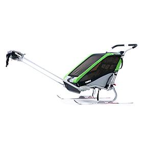 Фото 3 к товару Велоколяска детская Thule Chariot Chetah1 + набор колес, зеленая