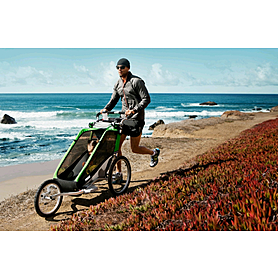 Фото 5 к товару Велоколяска детская Thule Chariot Chetah1 + набор колес, зеленая