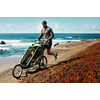 Велоколяска детская Thule Chariot Chetah1 + набор колес, зеленая - фото 5