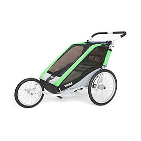 Фото 3 к товару Велоколяска детская Thule Chariot Chetah2 + набор колес, зеленая