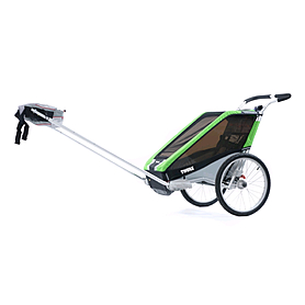 Фото 4 к товару Велоколяска детская Thule Chariot Chetah2 + набор колес, зеленая