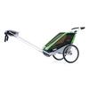 Велоколяска детская Thule Chariot Chetah2 + набор колес, зеленая - фото 4