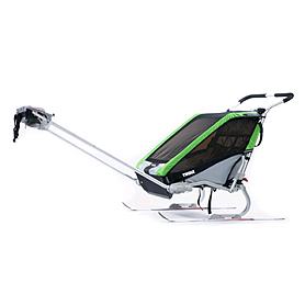 Фото 5 к товару Велоколяска детская Thule Chariot Chetah2 + набор колес, зеленая