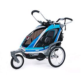 Велоколяска детская Thule Chariot Chinook1 + крепление к велосипеду, синяя