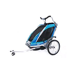 Фото 2 к товару Велоколяска детская Thule Chariot Chinook1 + крепление к велосипеду, синяя