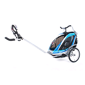 Фото 3 к товару Велоколяска детская Thule Chariot Chinook1 + крепление к велосипеду, синяя