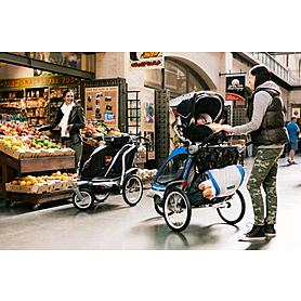 Фото 5 к товару Велоколяска детская Thule Chariot Chinook1 + крепление к велосипеду, синяя