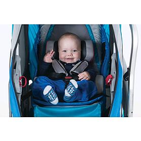 Фото 6 к товару Велоколяска детская Thule Chariot Chinook1 + крепление к велосипеду, синяя