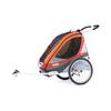 Велоколяска детская Thule Chariot Corsaire1 + набор колес, оранжевая - фото 1