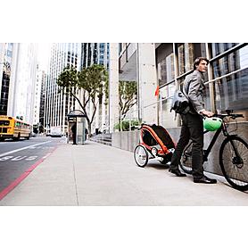 Фото 6 к товару Велоколяска детская Thule Chariot Corsaire1 + набор колес, оранжевая