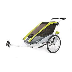 Велоколяская детская Thule Chariot Cougar1 + набор колес, зеленая