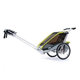 Фото 4 к товару Велоколяская детская Thule Chariot Cougar1 + набор колес, зеленая