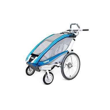 Велоколяска детская Thule Chariot CX1 + набор колес, голубая