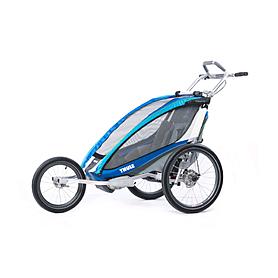 Фото 2 к товару Велоколяска детская Thule Chariot CX1 + набор колес, голубая