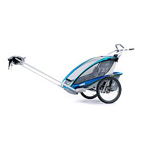 Фото 3 к товару Велоколяска детская Thule Chariot CX1 + набор колес, голубая