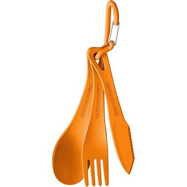 Набор посуды (ложка, вилка, нож) Sea to Summit Delta Cutlery Set оранжевый