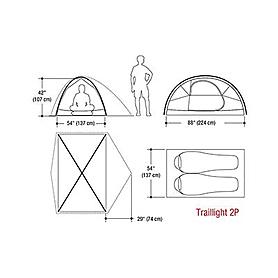 Фото 3 к товару Палатка двухместная Marmot Traillight 2P hatch/dark cedar