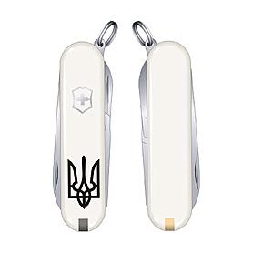 Фото 1 к товару Нож Victorinox Classic SD Ukraine 06223.7R1 белый