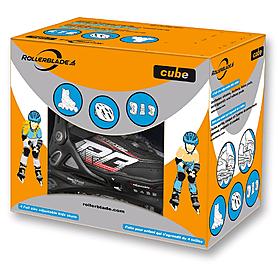 Фото 6 к товару Коньки роликовые раздвижные Rollerblade Spitfire Cube 2015 black/red + набор защиты