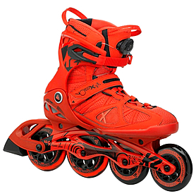 Коньки роликовые K2 VO2 100 X Boa 2015 красные