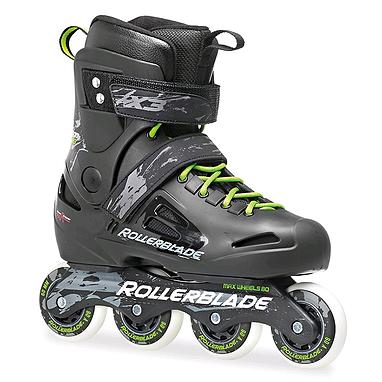 Коньки роликовые Rollerblade Fusion X3 2015 черно-зеленые