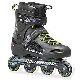 Фото 1 к товару Коньки роликовые Rollerblade Fusion X3 2014 черно-зеленые