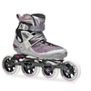 Коньки роликовые Rollerblade Tempest 100 W 2014 silver/purple - фото 1