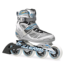 Коньки роликовые Rollerblade Tempest 90 W 2014 silver/light blue