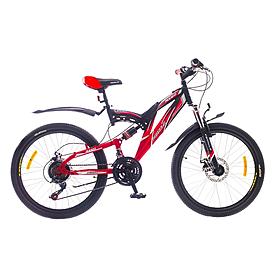 """Велосипед горный подростковый Formula Rodeo AM2 24"""" 2015 красно-черный рама - 17"""""""