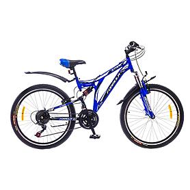 """Велосипед горный подростковый Formula Stark AM2 24"""" черно-синий рама - 16"""""""