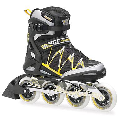 Коньки роликовые Rollerblade Igniter 90 XT 2014 черно-желтые