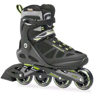 Распродажа*! Коньки роликовые Rollerblade Macroblade 2014 черно-зеленые - 40.5