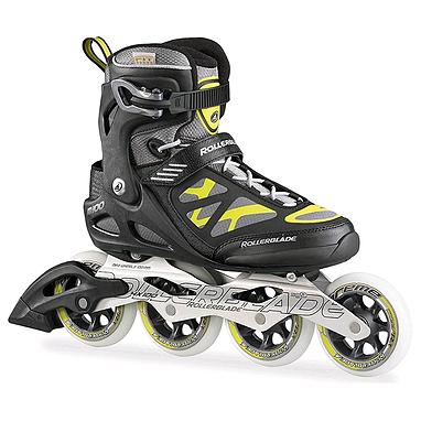 Коньки роликовые Rollerblade Macroblade 100 2015 черно-желтые