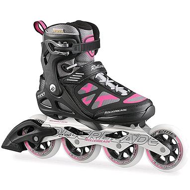 Коньки роликовые Rollerblade Macroblade 100 W 2015 черно-розовые