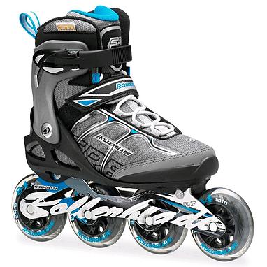 Коньки роликовые Rollerblade Macroblade 84 Alu W 2014 черно-голубые