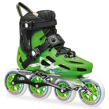 Коньки роликовые Rollerblade Maxxum 100 2014 зелено-черные