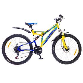 """Велосипед горный Formula Outlander AM2 26"""" 2015 желто-синий рама - 18"""""""