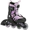 Коньки роликовые раздвижные K2 Charm X Boa 2014 черно-розовые - фото 1