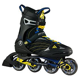 Коньки роликовые K2 F.I.T. 80 Sport 2014 черно-желтые