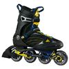 Коньки роликовые K2 F.I.T. 80 Sport 2014 черно-желтые - фото 1
