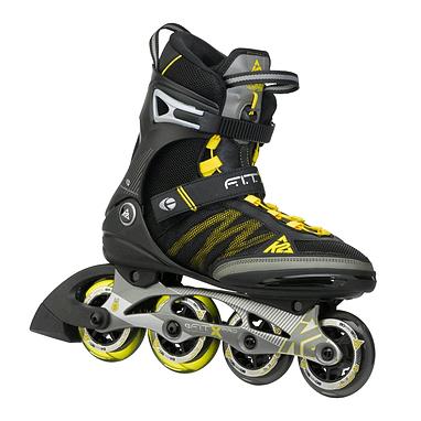 Коньки роликовые K2 F.I.T. Pro 2015 черно-желтые