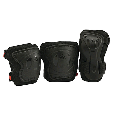 Защита для катания на роликах (комплект) К2 SK8 Hero Pro JR Pad Set черная, размер - S