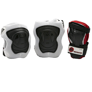 Защита для катания на роликах (комплект) K2 Performance M черный с красным, размер - L