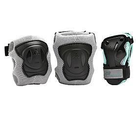 Фото 1 к товару Защита для катания (комплект) K2 Performance M Pad Set черная с бирюзовым, размер - L