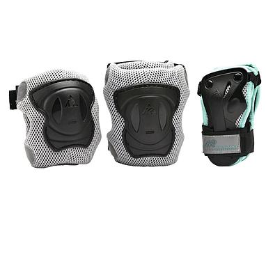 Защита для катания (комплект) K2 Performance M Pad Set черная с бирюзовым, размер - L