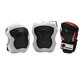 Фото 1 к товару Защита для катания (комплект) K2 Performance M Pad Set черная с бирюзовым, размер - S