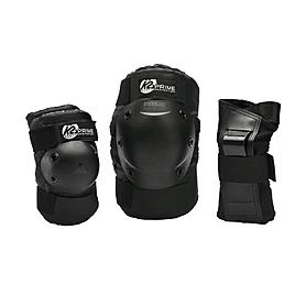 Защита для катания на роликах (комплект) K2 Prime M Pad Set черная, размер - M