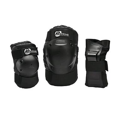 Защита для катания на роликах (комплект) K2 Prime M Pad Set черная, размер - S