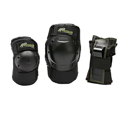 Защита для катания на роликах (комплект) K2 Prime M Pad Set черная с зеленым, размер - XL